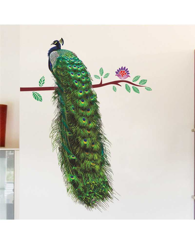 3D Peacock Wall Stickers
