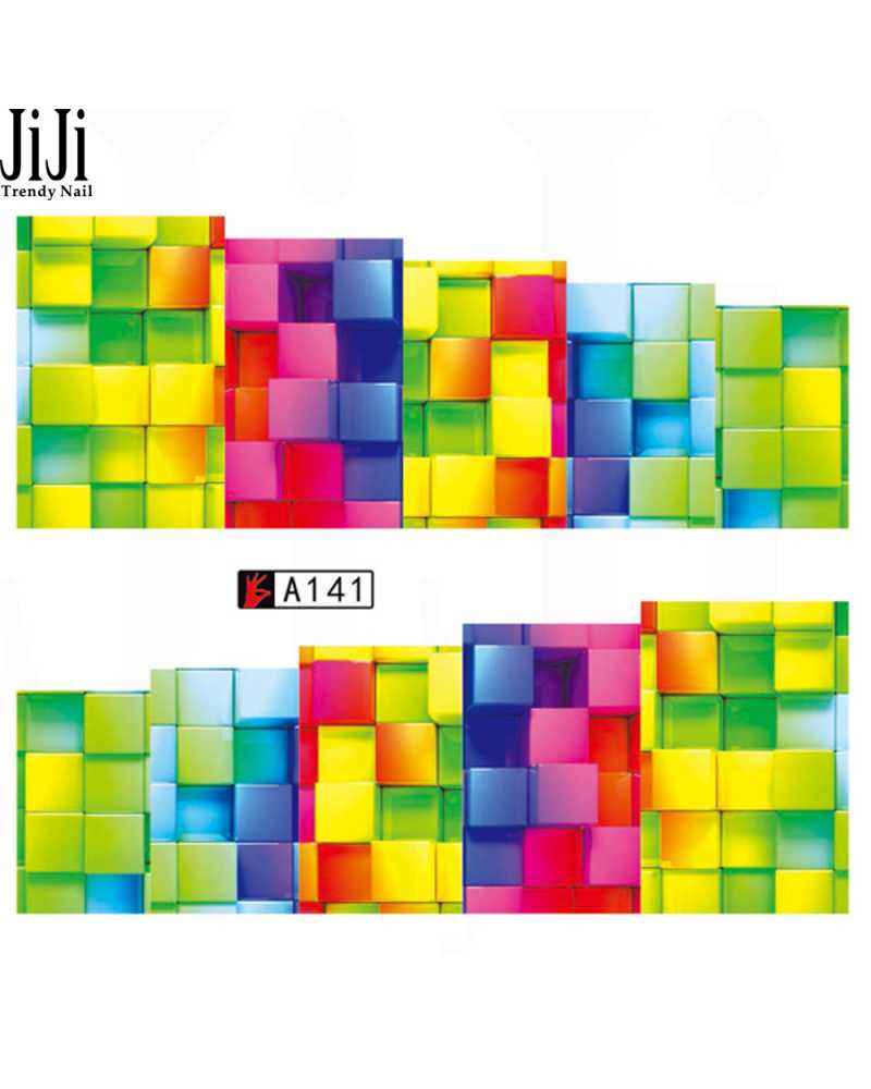 Colorful Rectangle Nail Stickers