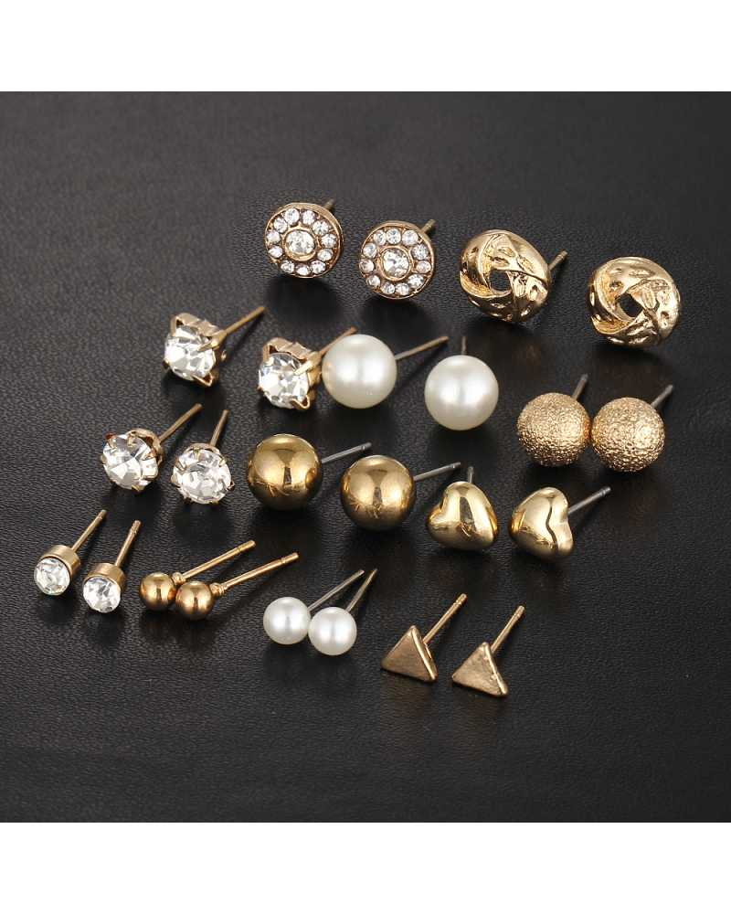 12 Pcs/Set Vintage Lovely Earring