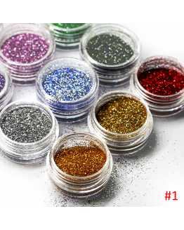 12 bottles Nail Glitter Powder