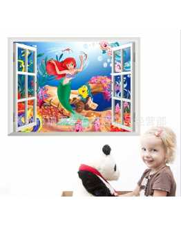 3D The Mermaid Princess Wall Stickers