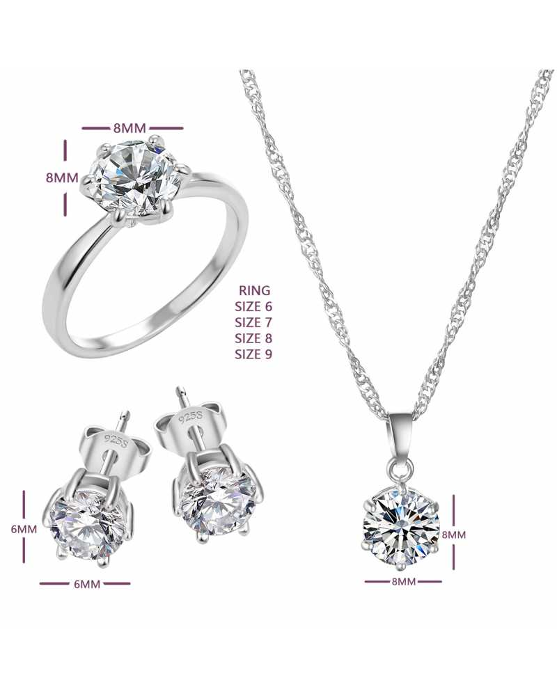 Hot Sale Cubic Zircon Pendant With Earrings