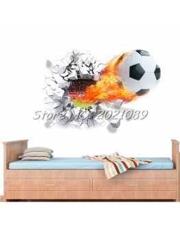 3D Soccer Wall Sticker