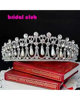 Princess Diana Pearl  Crystal Crown