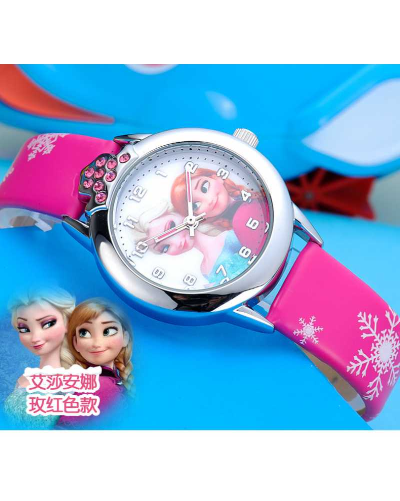 Frozen Leather Wristwatch