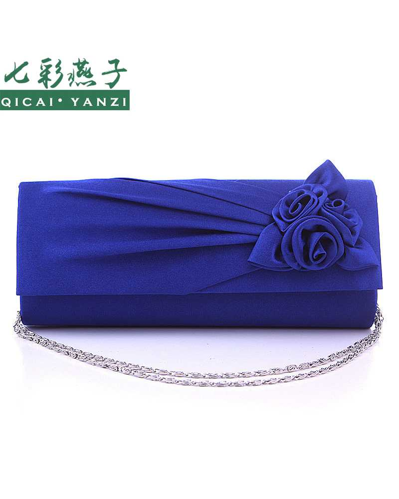 Flower Satin Prom Party Women Clutches / MIni Bag