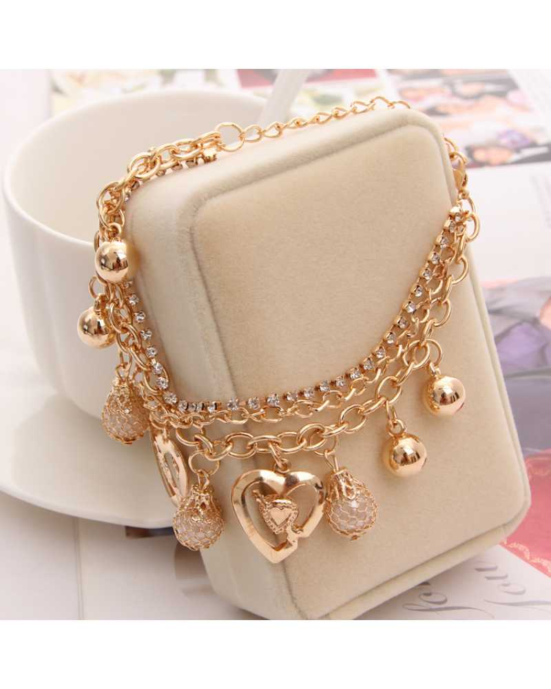 Crystal Charm Multilayer Spunky Bracelet