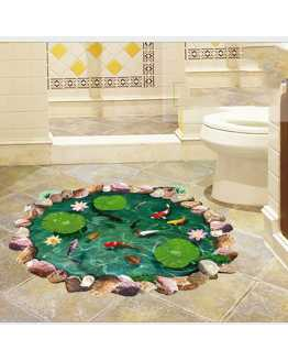 3D Fish Pond Floor Sticker