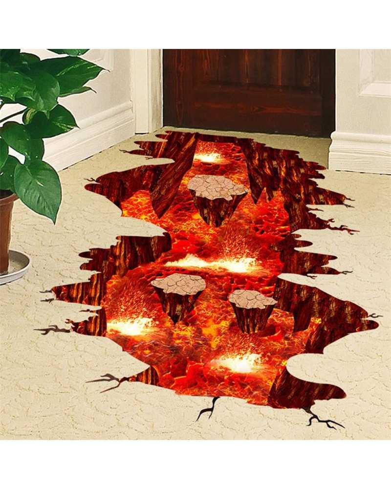 3D Magma Volcano Wall Stickers