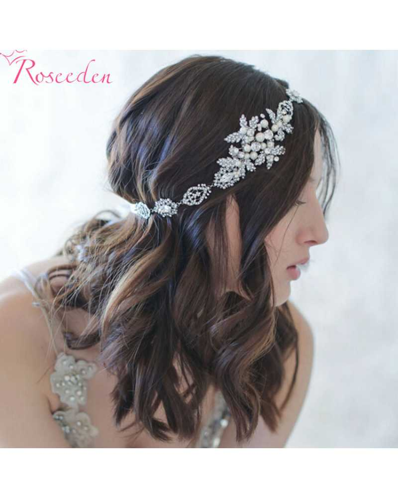 Floral Pearl Pageant Hair wear