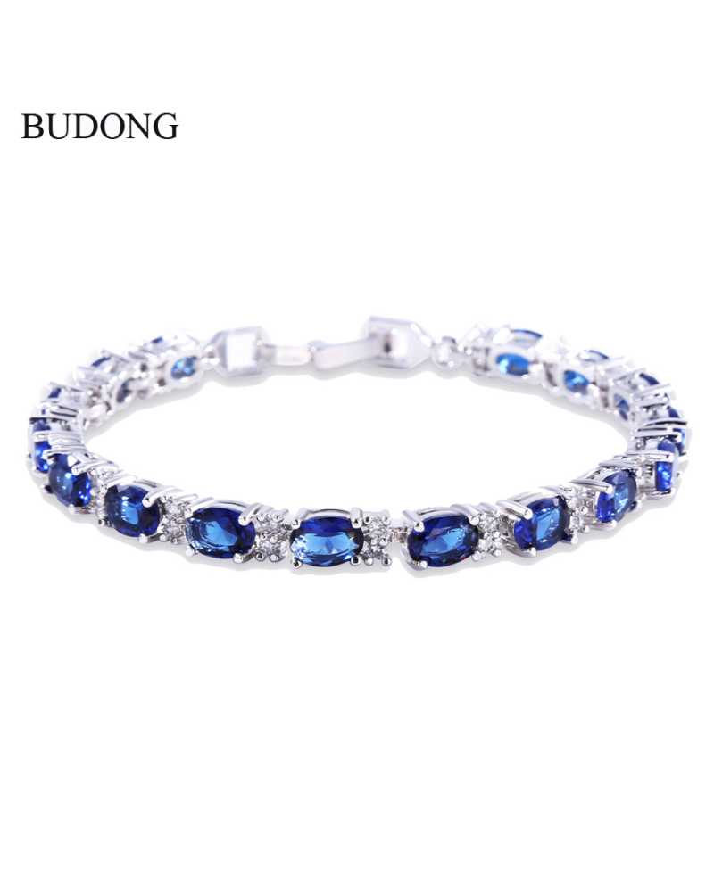 Oval Crystal Charming Bracelet