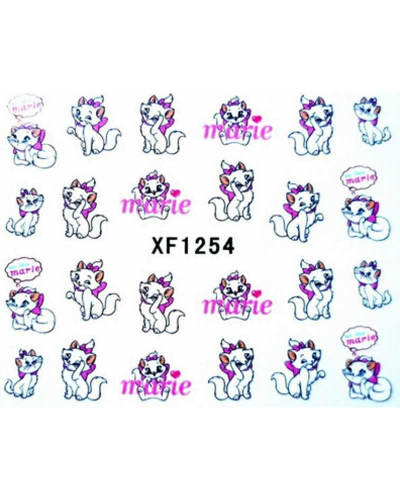 Beauty Cute Cat Bow Know Nail Stickers