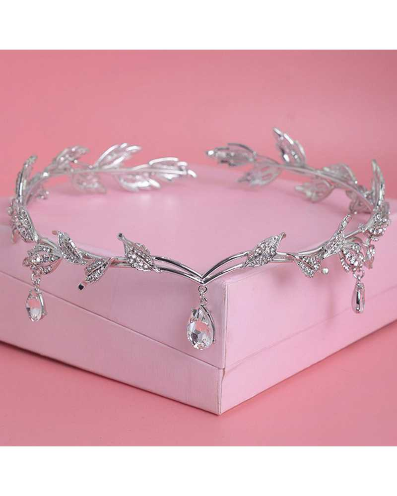 Leaf Rounded Tiara / Crown