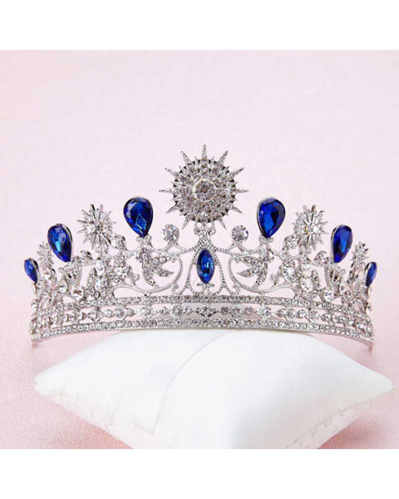 Blue Rhinestone Tiara / Crown