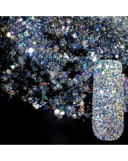 Blue And White Nail Glitter Powder