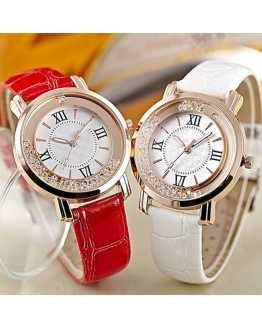 Crystal Leather Hot Women Watch