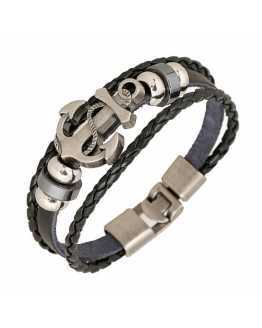 Vintage Anchor Leather Bracelet