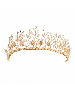 Floristic Crystal & Pearl Tiara / Crown