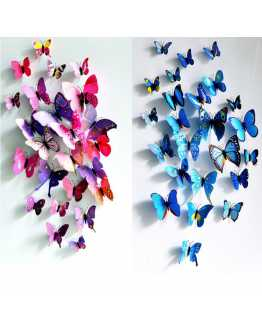 3D Colourful Butterfly Wall Stricker