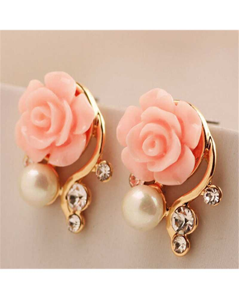 Rose Pearl Lovely Earrings