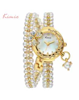 Butterfly Peal and Crystal Unique Ladies Watch