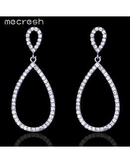 Hot Crystal Long Exotic Earrings