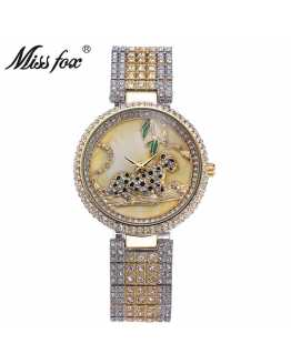 Hot Leopard Crystal Unique Ladies Watch