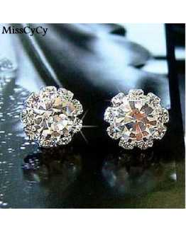 Hot Crystal Flower Lovely Earrings