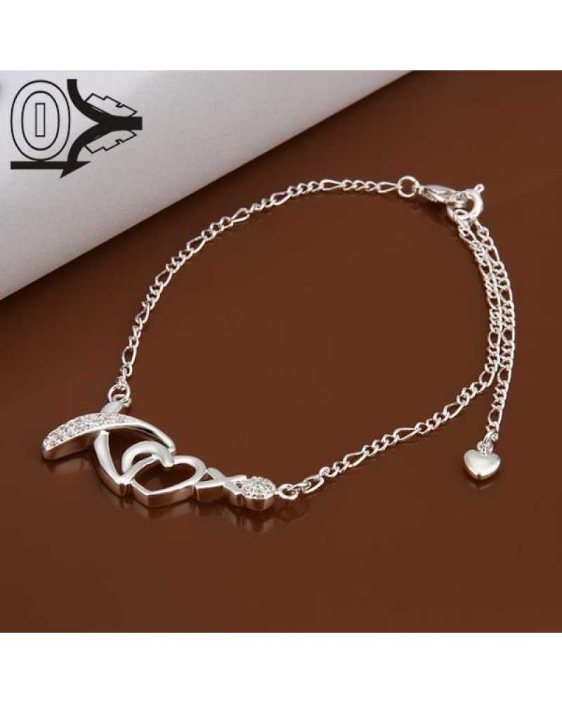 Charm Heart Crystal Anklet