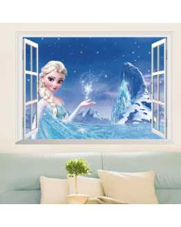 3D Elsa Frozen Wall Stickers