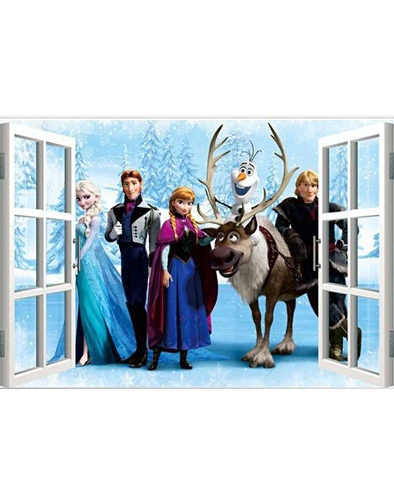 3D Frozen Theme Window Wall Stickers