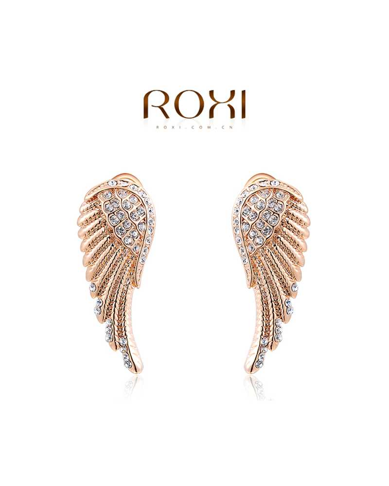 Angle Wing Long Exotic Earrings