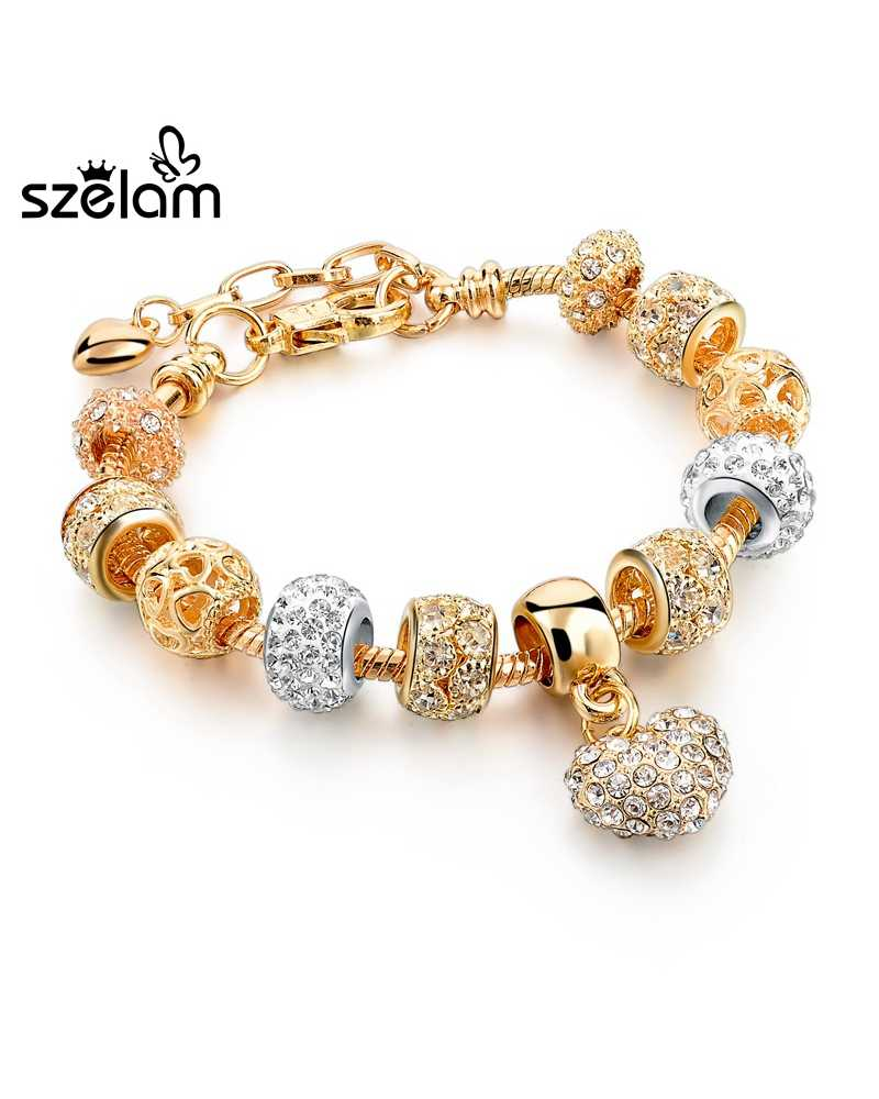 Luxury Crystal Gold Plated Spunky Bracelets