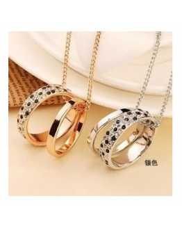 Double Circle Trendy Pendant