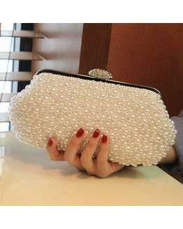 Pearl and Crystal Women Clutches