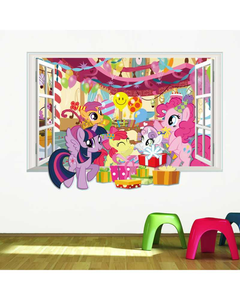 3D Birthday Party Theme Wall Stickers