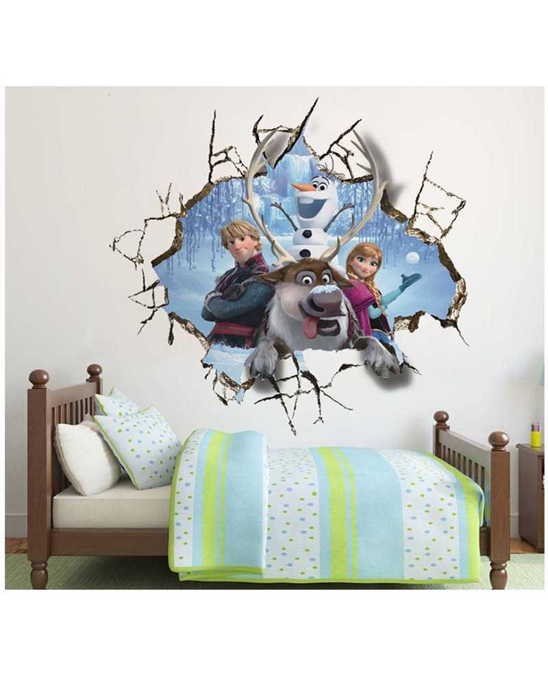 ... 3D Frozen Wall Sticker