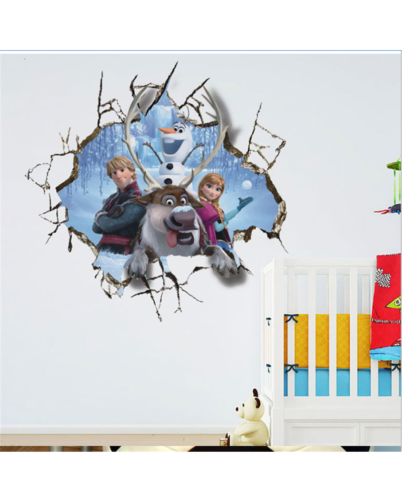 3D Frozen Wall Sticker