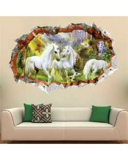 3D Unicorn Wall Stickers