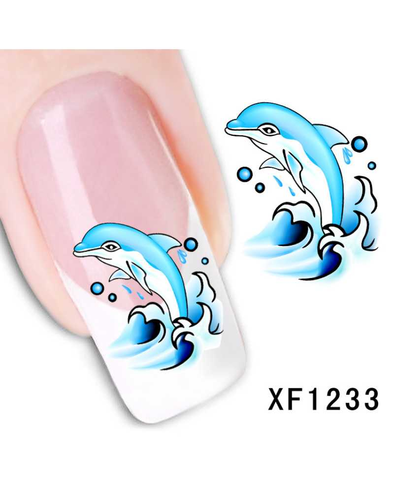 Dolphin Design Nail Stickers