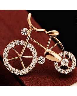 Bicycle Lover  Crystal Brooch