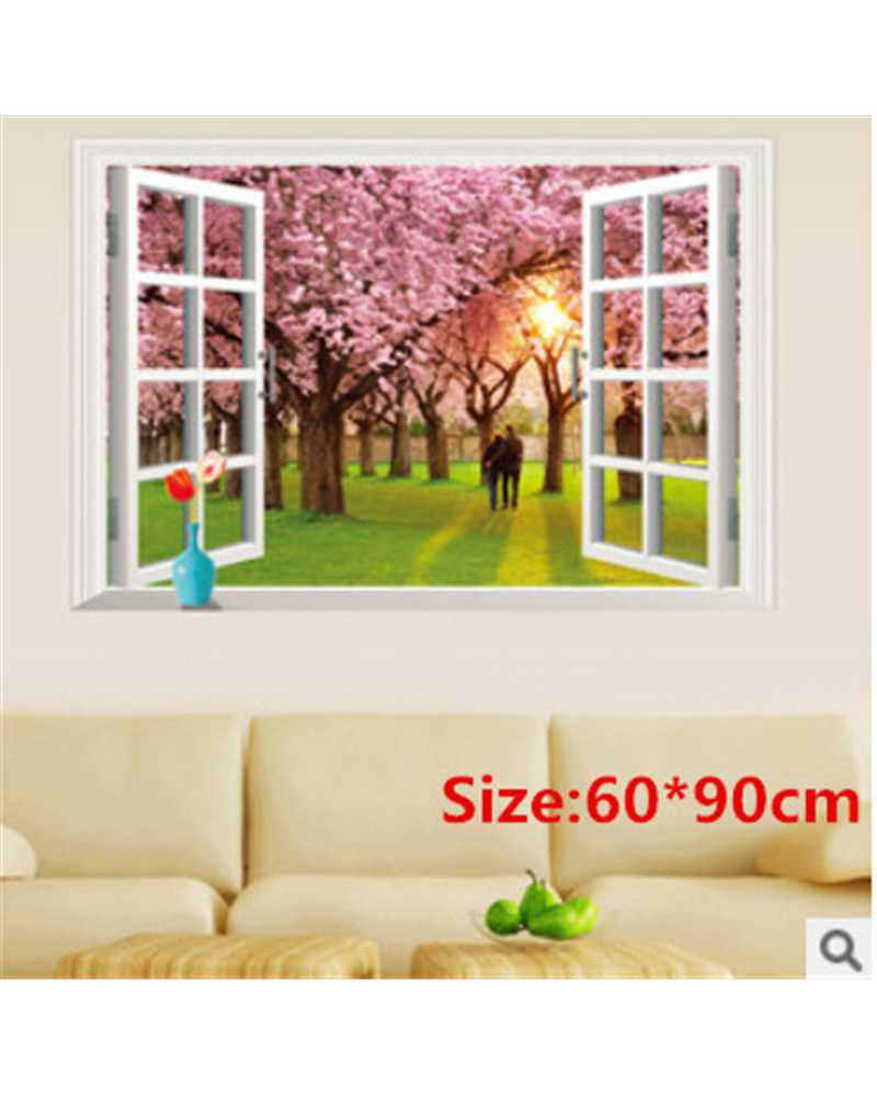 3D Window Multi Style Wall Stickers