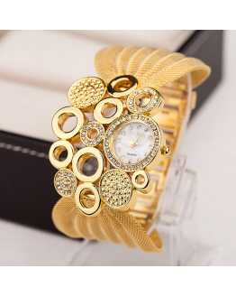 Multiple Hollow Women Cuff Watch