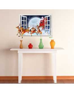 3D Santa Claus Wall Sticker