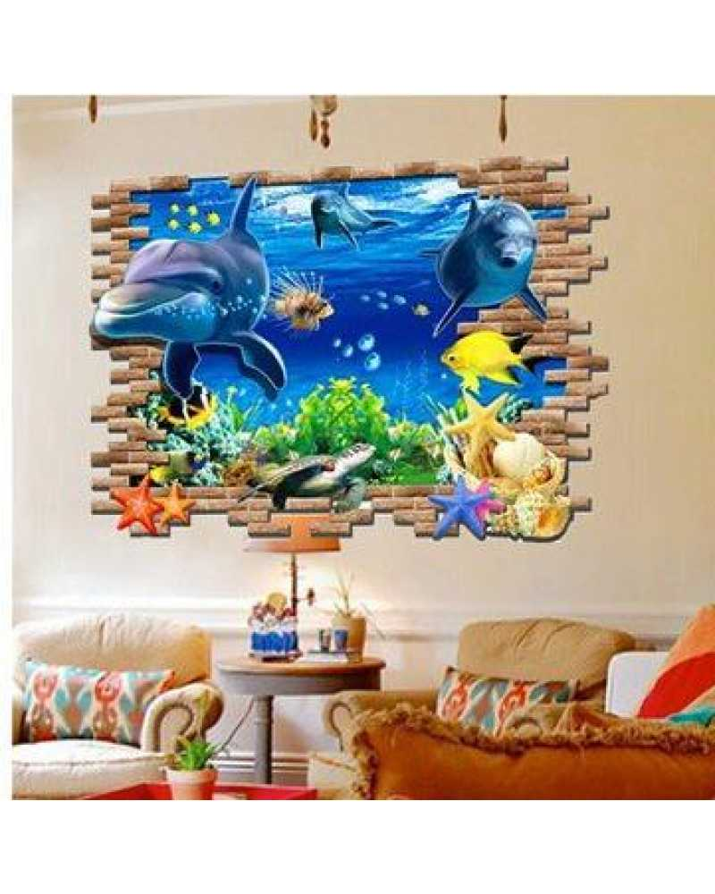 3D Fish Undersea Wall Stickers