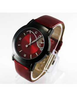 Hot Red Women Wrist Watch