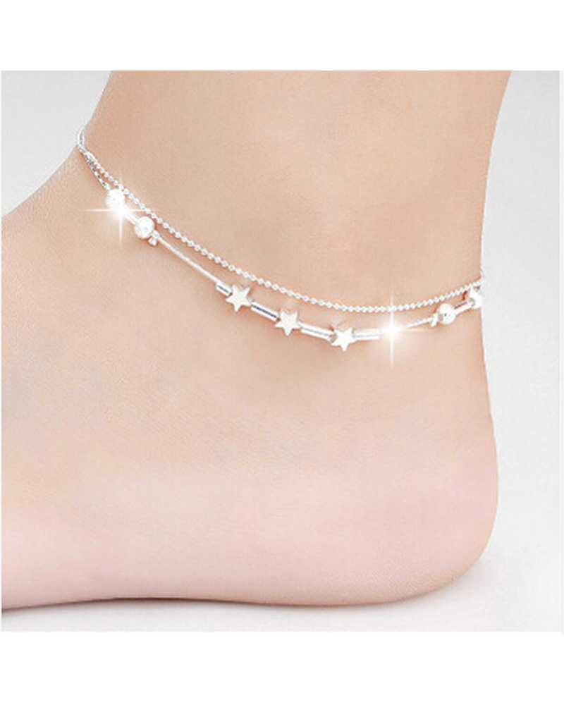 Star Silver Anklet Chain
