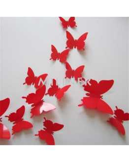 3D Plain Butterfly Wall Sticker
