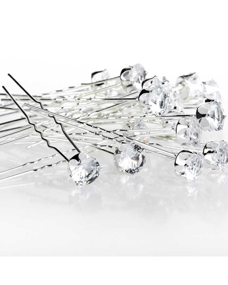 Round Crystal Rhinestone Hair Pins