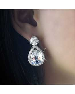 Hot Looking Crystal Drop Exotic Earrings